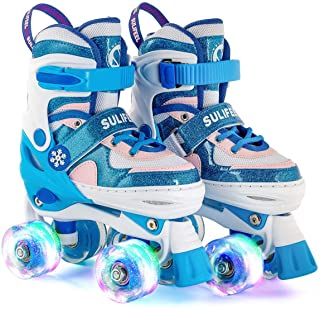Sulifeel Ice Snow Ruedas Patines Roller con Luces Ajustables