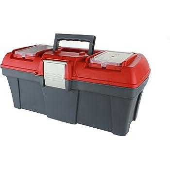 MKK – 10906 de – Maletín de herramientas vacía Caja de herramientas caja transporte lengüetas de metal: Amazon.es: Bricolaje y herramientas