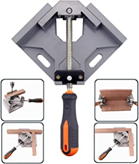 WEICHUAN Woodworking 90 Degree Corner Clamp Right Angle Clamp Right Angle Vise Adjustable Bench Vise Tool