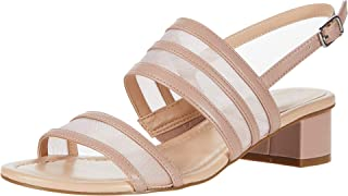 Bandolino Footwear Women's Block heel sandal Heeled, Pink, 7.5