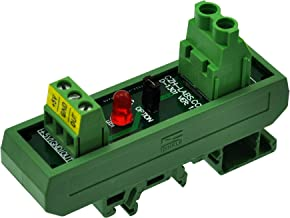 Slim DIN Rail Mount AC/DC Current Sensor Module, Based on ACS712. (+/-20Amp)