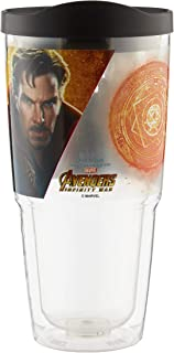 Marvel Tritan - 22 oz. Plastic Tritan Tumbler - Double Wall Insulated for Cold Drinks, Dr. Strange