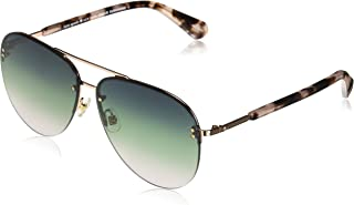 Kate Spade Women's Jakayla/s Aviator Sunglasses, Blue Havana, 62 mm