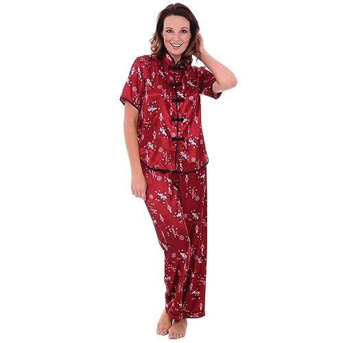 Alexander Del Rossa Womens Satin Pajamas 5fedcd04c