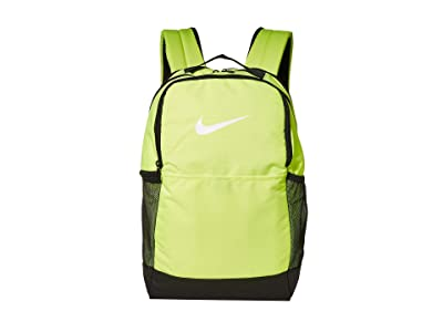 Nike Brasilia Medium Backpack 9.0 (Volt/Black/White) Backpack Bags