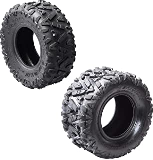 WPHMOTO 19x7-8'' Front Tires & 18x9.5-8'' Rear Tires Knobby Tubeless for ATV Go Kart Quad Bike
