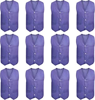TOPTIE 12 Pcs Kid Button Vest, Twill Volunteer Activity & Stage Performance Vest