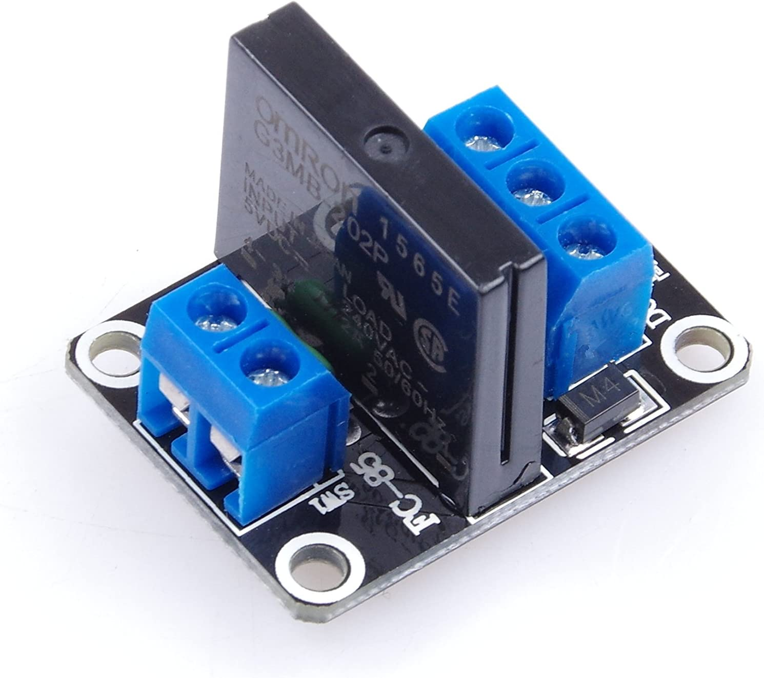 KNACRO 5V 2A 1 Channel Solid State Relay Module High Level Trigger Black for Arduino Uno Duemilanove MEGA2560 MEGA1280 ARM DSP PIC (DC 5V, 1-Channel)