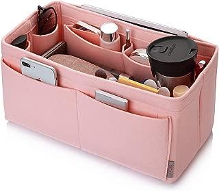Felt Purse Organizer, Bag in Bag Organizer For Tote & Handbag, Speedy, Neverfull, Medium Large Extra Large (Medium, Brush Pink)