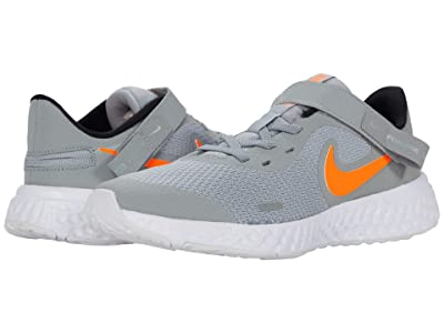 Nike Kids Flyease Revolution 5 (Big Kid) (Light Smoke Gray/Total Orange) Kids Shoes