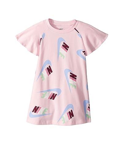 Nike Kids Sportswear All Over Print Dress (Toddler/Little Kids) (Pink Foam) Girl