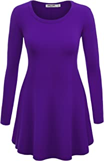 Women's Long Sleeve Trapeze Tunic for Leggings-Made in USA