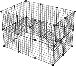 KOUSI Small Pet Pen Bunny Cage Dogs Playpen Indoor Out Door Animal Fence Puppy Guinea Pigs, Dwarf Rabbits PET-C
