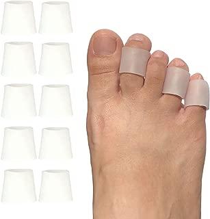 Toe Protectors, Toe Caps & Toe Sleeves for Corns, Calluses, Blisters, Ingrown Toenails & Toe Irritations, Gel Pinky Toe Covers for Men & Women (5 Pairs)