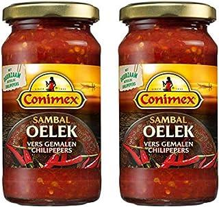 Conimex Sambal Oelek, Hot Chili Paste, 2 jar pack, 6oz/200g each