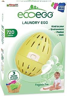 Ecoegg - Detergente ecolgico en perlas para lavar la ropa (hasta 720 lavados sin aroma) diseo de huevo