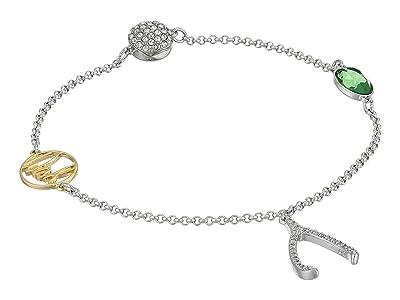 Swarovski Remix Collection Wishbone Strand Bracelet (CZ White/Green) Bracelet