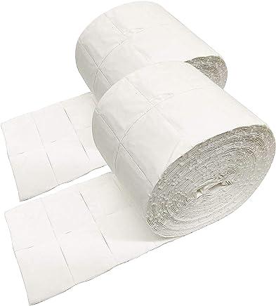 Crisnails® Rouleaux de carrés de cellulose pour ongles - Lot de 2 rouleaux de 500 carrés de cellulose prédécoupés haute qualité