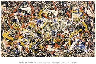 Convergence Abstract Expressionism Art Print by Jackson Pollock, Overall Size: 28x40, Image Size: 36.5x21.75