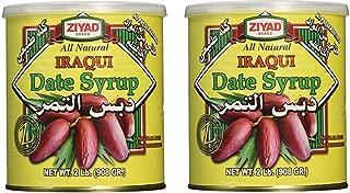 Iraqi Dates Syrup, All Natural 32 Oz.Pack of 2 Cans - دبس التمر العراقي الطبيعي، 946 مل عدد 2