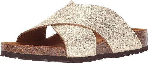 Spring Step Woherren JACINTALA Flat Sandal, Gold, 37 M EU (US 6.5-7 US)