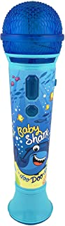Baby Shark Karaoke Sing Along Microphone for Kids, Built in Music, Flashing Lights, Pretend Mic, Toys for Kids Karaoke Machine, Connects MP3 Player Aux in Audio Device