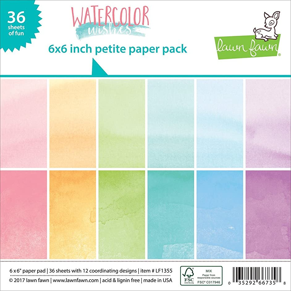 Lawn Fawn Petite Paper Pack - LF1355 Watercolor Wishes 6