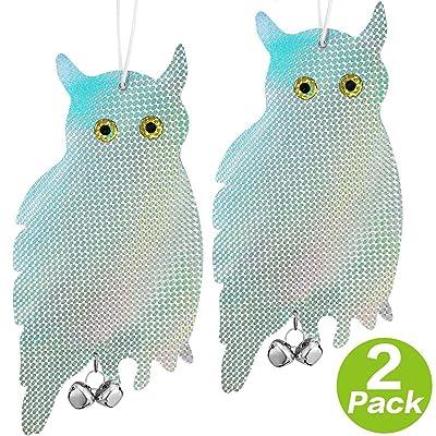VINCREY Owl Bird Repellent Control Scare Device...