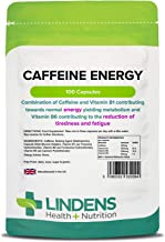 Lindens Caffeine Energy 200mg Capsules 100 Pack Easy to Swallow Rapid Release Capsule Excellent Boost for Early Mornings Or Late Nights Estimated Price : £ 5,99