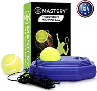 Steelish Tennis Trainer Rebound Ball - Solo Tennis Trainer Tool with Long Rope and 2 Training Balls - Self-Study Power Base Rebounder Tennis Practice Equipment, Tennis Rebound Ball, Blue