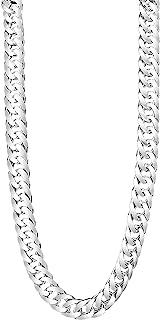 TAIPAN grande lungo doppia catena argento catena collana per uomo in vero 925 Argento Sterling 60 cm lungo 6 mm larghezza ...