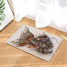Creative Handicraft Decor, Fish Made by Electric Wire Bath Rugs, Non-Slip Doormat Floor Entryways Outdoor Indoor Front Doo...