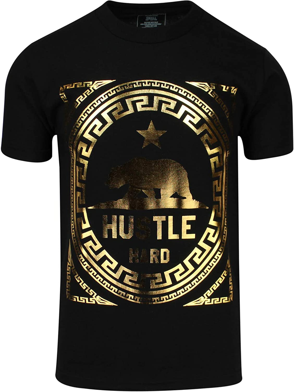 ShirtBANC California Hustle Inventory cleanup Brand Cheap Sale Venue selling sale Hard Bear Metallic Silk Screen Shirt