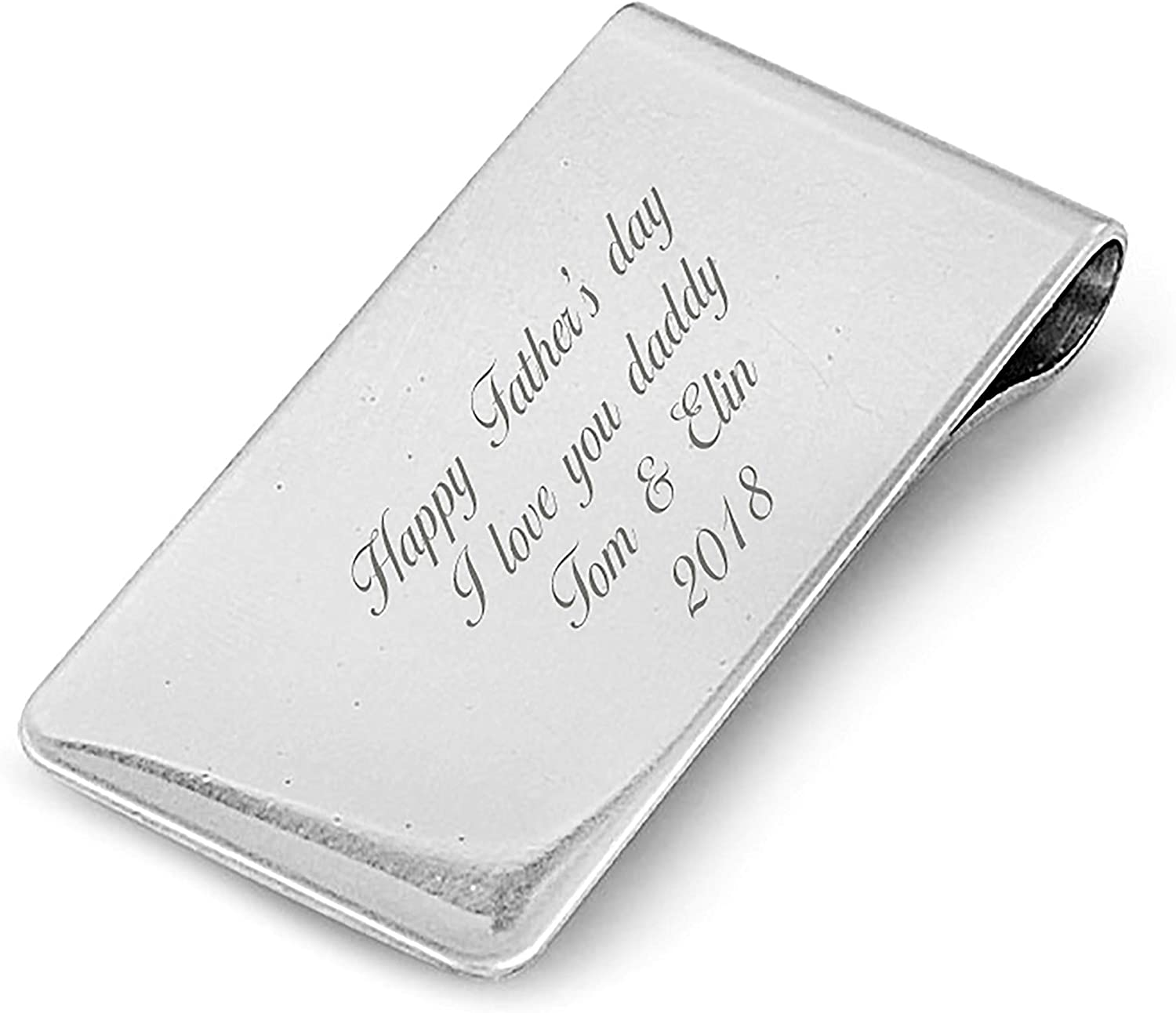 Custom Personalized Laser Engraved Stainless Steel Money Clip, For Dad, Husband, Friend, Grandpa,and mom boyfriend