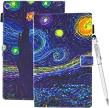Case for Amazon Fire HD 10 (7th Generation, 2017 Release) [Free Stylus Pen], Colorful Premium Leather Soft TPU Wallet Stand Smart Cover [Auto Wake/Sleep] for Kindle Fire HD 10