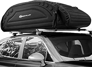 Goplus Car Roof Bag, 15 Cubic Feet Roof Top Cargo Carrier, Weather Resistant Soft-Shell Carrier, Water Proof Cargo Bag w/Heavy Duty Straps, Universal Luggage Carrier for Jeep, Car, SUV (Black)