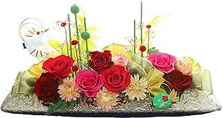 サウンドアレンジ 花扇(真紅) プリザーブドフラワー 和風 ギフト 花 プレゼント 還暦 還暦祝い