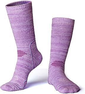 Yijiujiuer Men's Women's 2 Pairs Hiking/Trekking/Ski Socks Cotton Wicking Performance Sports Crew Cushion Sock