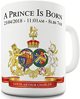 11 OZ Funny Mugs For Coworkers New Royal Baby Prince Louis Is Born