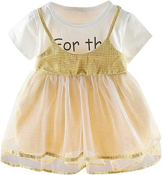Ivyi Miniskirt Summer Girl Frilled Mesh Sling Solid Color Princess 0M 24M 19Apl10 Green 6M