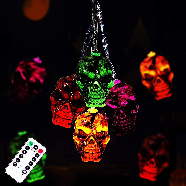 Halloween Skeleton Skull String Lights