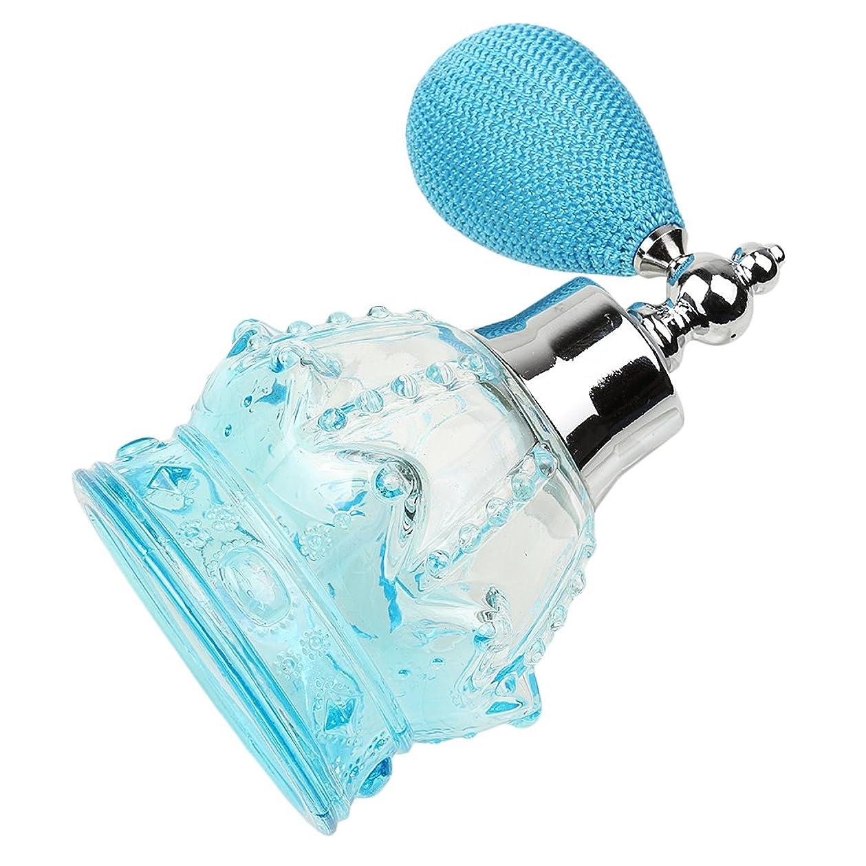 予感に対して魔術師Flameer 3色選べる 100ml 空 ガラス瓶 香水瓶 噴霧器 魅力的 ボトル  詰め替え スプレーバルブ アトマイザー    - 青