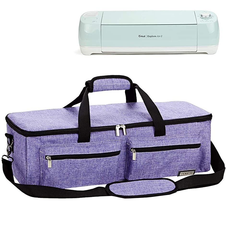 HOMEST Carrying Case Compatible with Cricut Explore Air 2, Cricut Maker, Silhouette CAMEO3, Purple