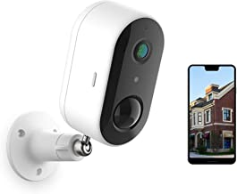 Wireless Outdoor Security Camera, Battery Powered WiFi Home Security Camera System Indoor/Outside, Night Vision, 1080P, Mo...