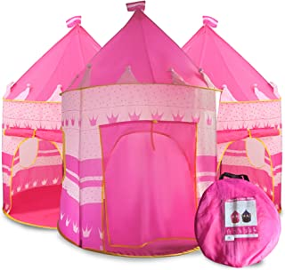 Princess Castle Play Tent for Kids, Princess Castle Dollhouse That conveniently Folds in to a Carrying Case, Perfect Folda...