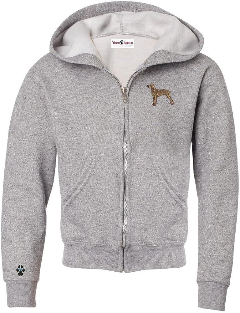 YourBreed Clothing Company Rhodesian Ridgeback Youth Full Zip Hooded Sweatshirt