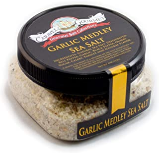 Garlic Medley Fine Sea Salt - All-Natural Sea Salt Blend with Bell Pepper, Onion, Celery, Black Peppercorn & Parsley - No ...