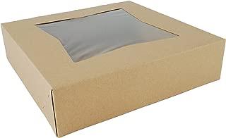 Southern Champion Tray 24233K Kraft Paperboard Window Bakery Box, 10