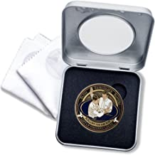Baptism LDS Challenge Coin in Deluxe Display Tin Box with bonus polishing cloth