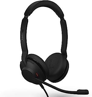 Jabra Evolve2 30 UC Auriculares con Cable, USB-A, estéreo, Negro, Ligeros, portátiles con 2 micrófonos Integrados, Auricul...